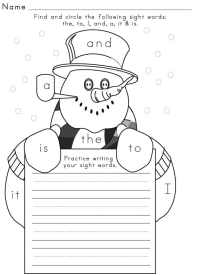 Free Sight Word Worksheets and Printables - Sight Words ...