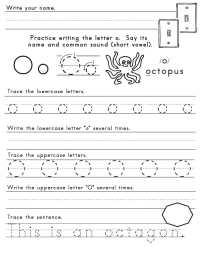 Letter O Worksheet