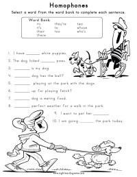 Homophone Worksheets 2Nd Grade Free Worksheets Library ...
