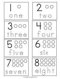 Number Worksheets - Sight Words, Reading, Writing ...