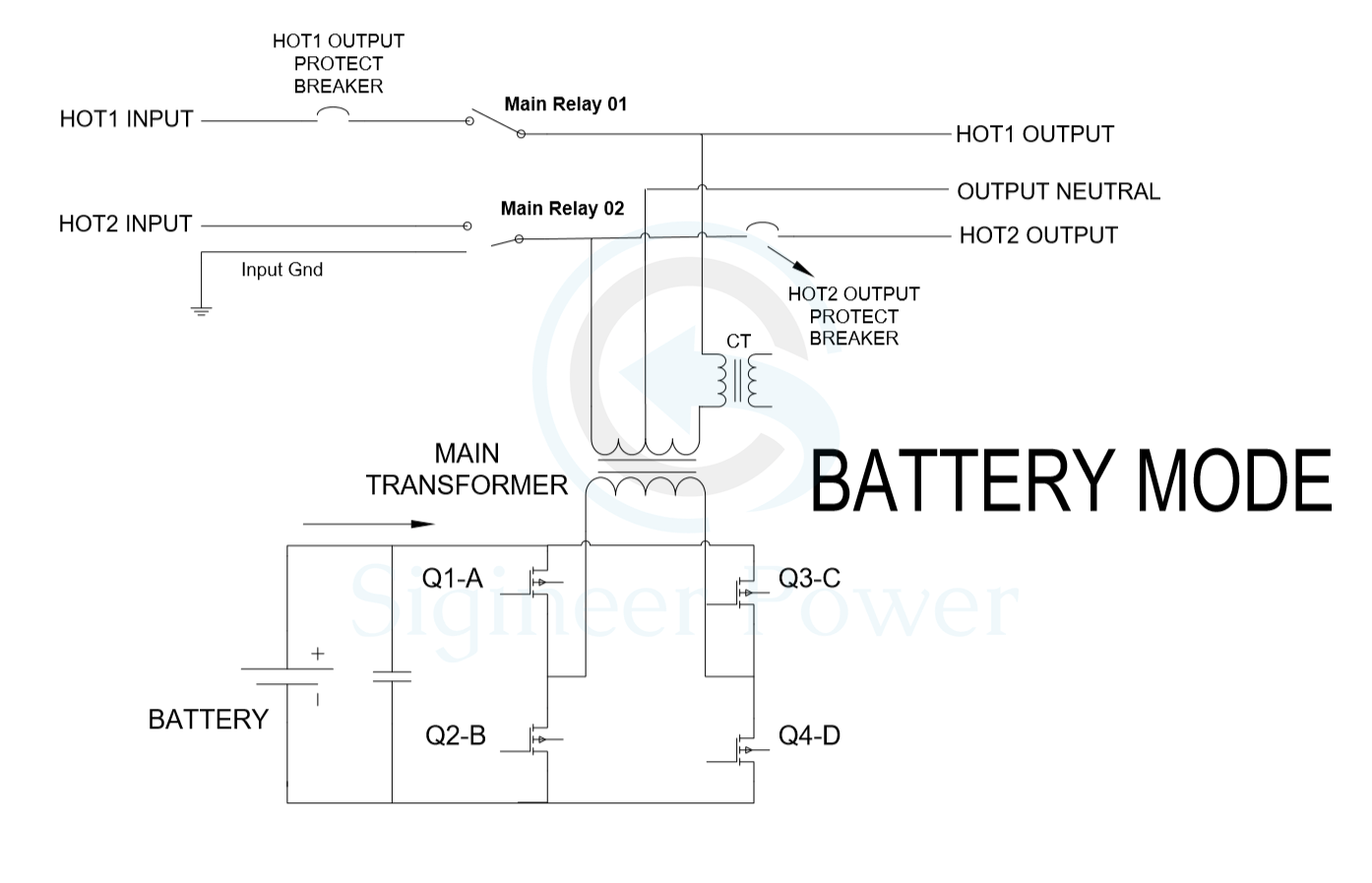 hight resolution of split phase inverter schematic of ac and inverter mode dual battery wiring diagram 50 rv wiring diagram split phase inverter