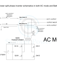 split phase inverter schematic of ac and inverter mode for mini split ac wiring diagrams rheem ac wiring diagram [ 1412 x 903 Pixel ]
