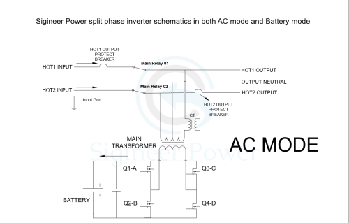 small resolution of split phase inverter schematic of ac and inverter mode for mini split ac wiring diagrams rheem ac wiring diagram