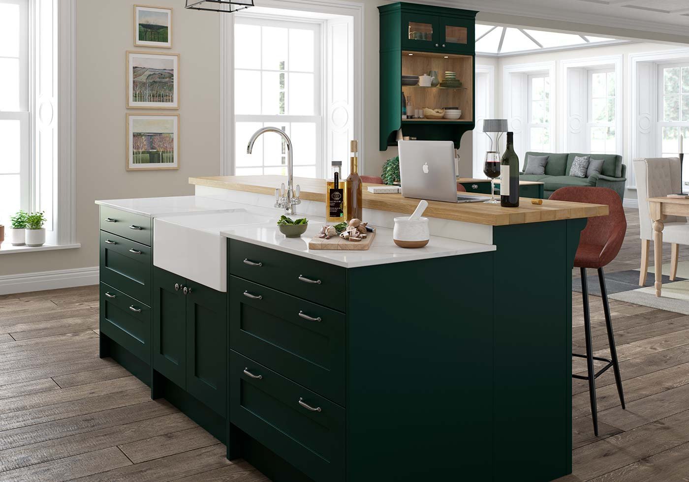 Green Kitchens Green Kitchen Ideas By Sigma 3 Kitchens