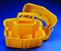 Nalgene bottle carrier for 05 L bottles bright yellow