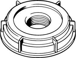 Plastic drum plugs and caps Rieke 70mm screw cap for poly