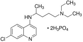 Chloroquine diphosphate salt powder or crystals, 98.5-101