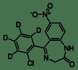 Clonazepam-d4 solution 100 μg/mL in methanol, ampule of 1