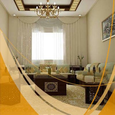 Salon décoratif moderne traditionnel oriental