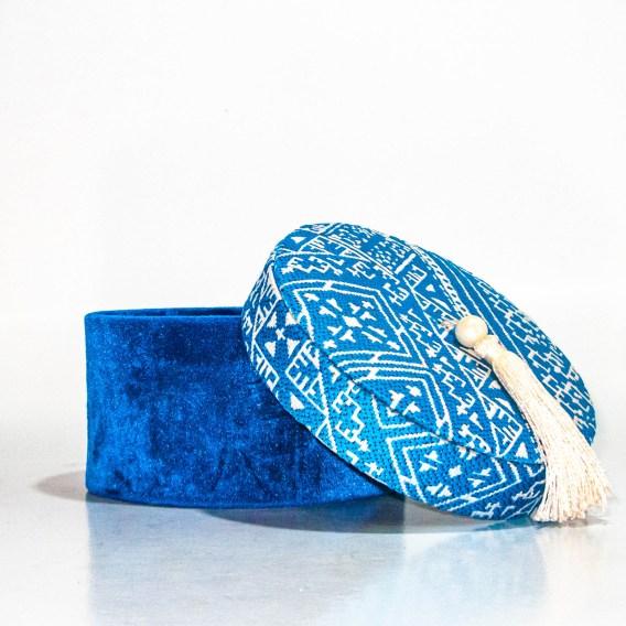 Boite décorative Bleue