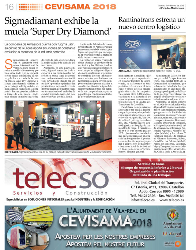Sigmadiamant exhibe la muela 'Super Dry Diamond'