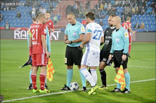 Michal Vepřek a Milan Baroš při losu stran před utkáním Baník Ostrava vs. Sigma