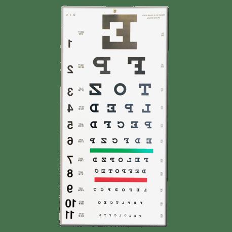 Reversed Snellen Eye Chart