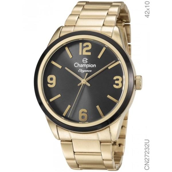 800818376f8 Relgio Champion Dourado Feminino Elegance Analgico Cn27232u