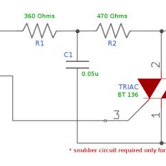 Electric Motor Start Capacitor Wiring Diagram Alternator Internal Regulator Triac Switch To Control High-voltage Devices | Sigmatone