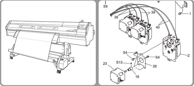 Roland Solvent Resistant Ink Pump for XJ-540/XC-540/VP-540