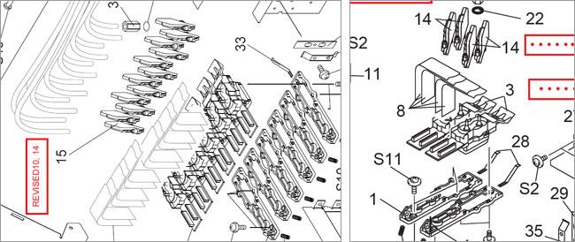 10pcs Roland SP-300 / SP-540 / SC-540 / VP-300 Printhead