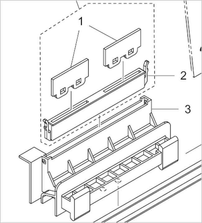 ยางปัดหมึกสำหรับเครื่องพิมพ์ Mimaki JV33 / JV5 (สามารถ