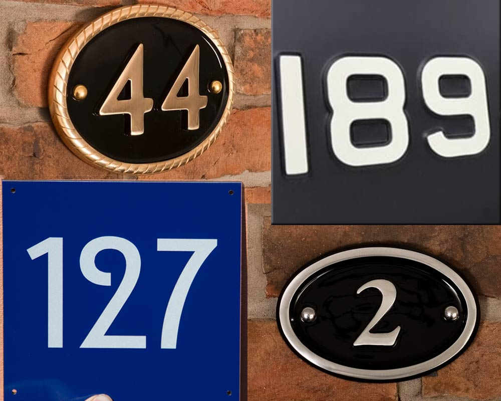 House Number Signs – Address Numbers | The Sign Maker