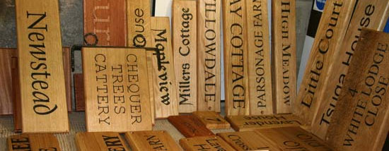 Wooden House Signs – Wood Name Plates The Sign Maker
