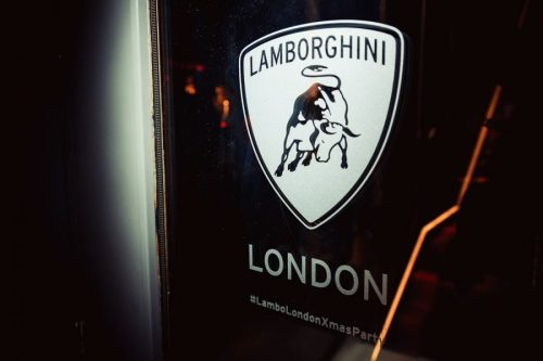 Lambo Party Frosted Window Sticker