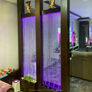 Acrylic Panel Bubble Water Feature in Malaysia