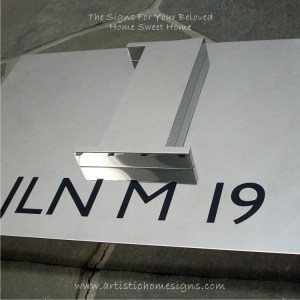 3D Numbers Etching Address Sign Plaque 1