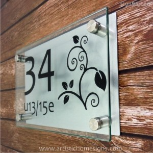 Etching Glass Sign Black Letters With Silver Board