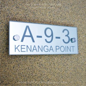 Contemporary Rectangle Mirror Etching Sign A-9-3