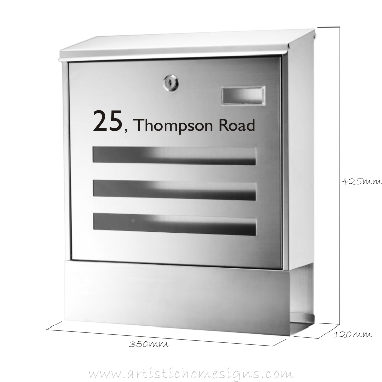 MLB-302T Stainless Steel Windows Mailbox