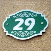 S/S Etching Green Base House Sign 29