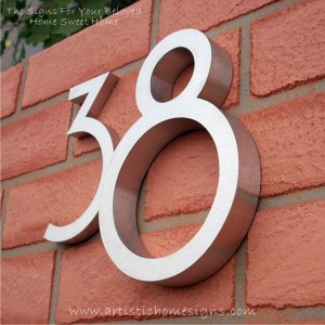 Weather Resistant House Numbers - Standard Font 01