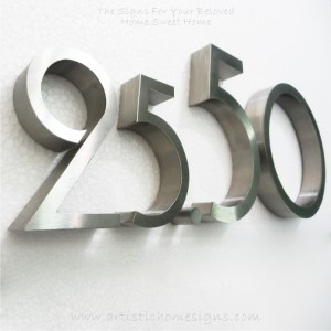 Weather Resistant House Numbers - Standard Font 09