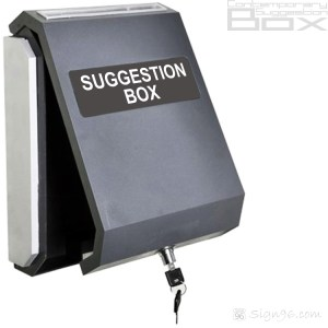 MLB-404 Contemporary Suggestion Box 01