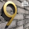 CNC Cut Aluminium Modern House Address Number With Gold Finishing LTR-506-GD MALAYSIA HOUSE NUMBER ADDRESS SIGN BIG HOUSE NUMBER