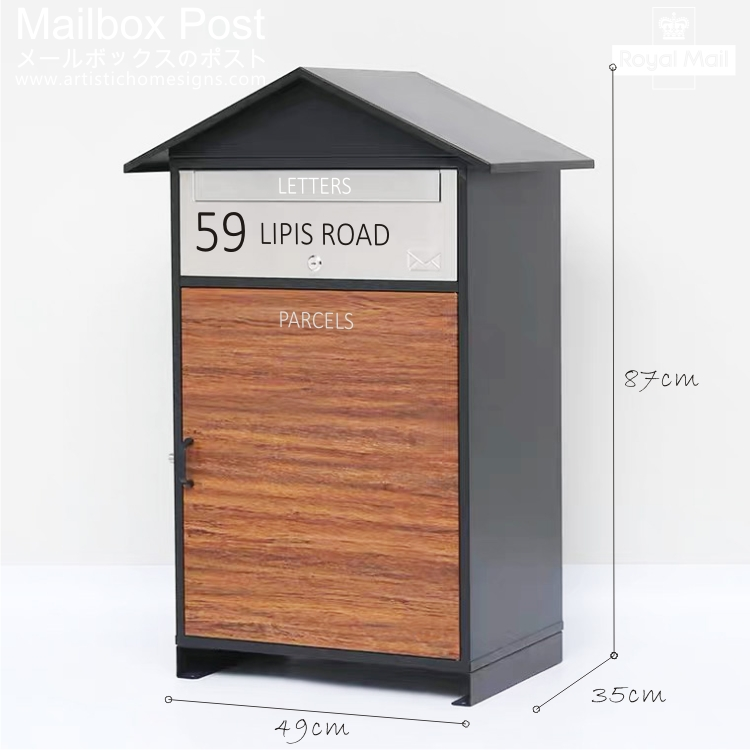 Cottage Parcel Pal Drop Box Mailbox Letterbox MLB-631 With Address Sign Made In Malalysia