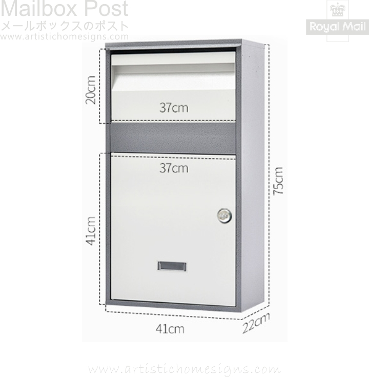 Parcel Pal Family Express Box Drop Mailbox Letterbox Malaysia Home Decor MLB-635