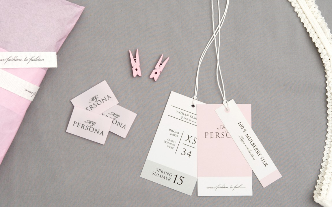 Personalised Printed Fabric Label Tags for Textile Products