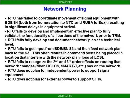 NETOPS Trends From NTC - Network Planning