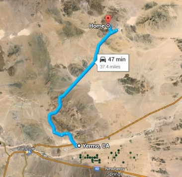 Map to Yermo from NTC