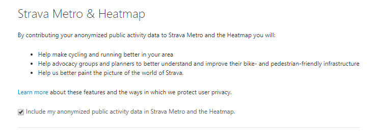 Strava Privacy Settings