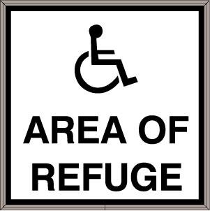 38830 (SBLF1212W-A356B) Area of Refuge w/Handicap Symbol