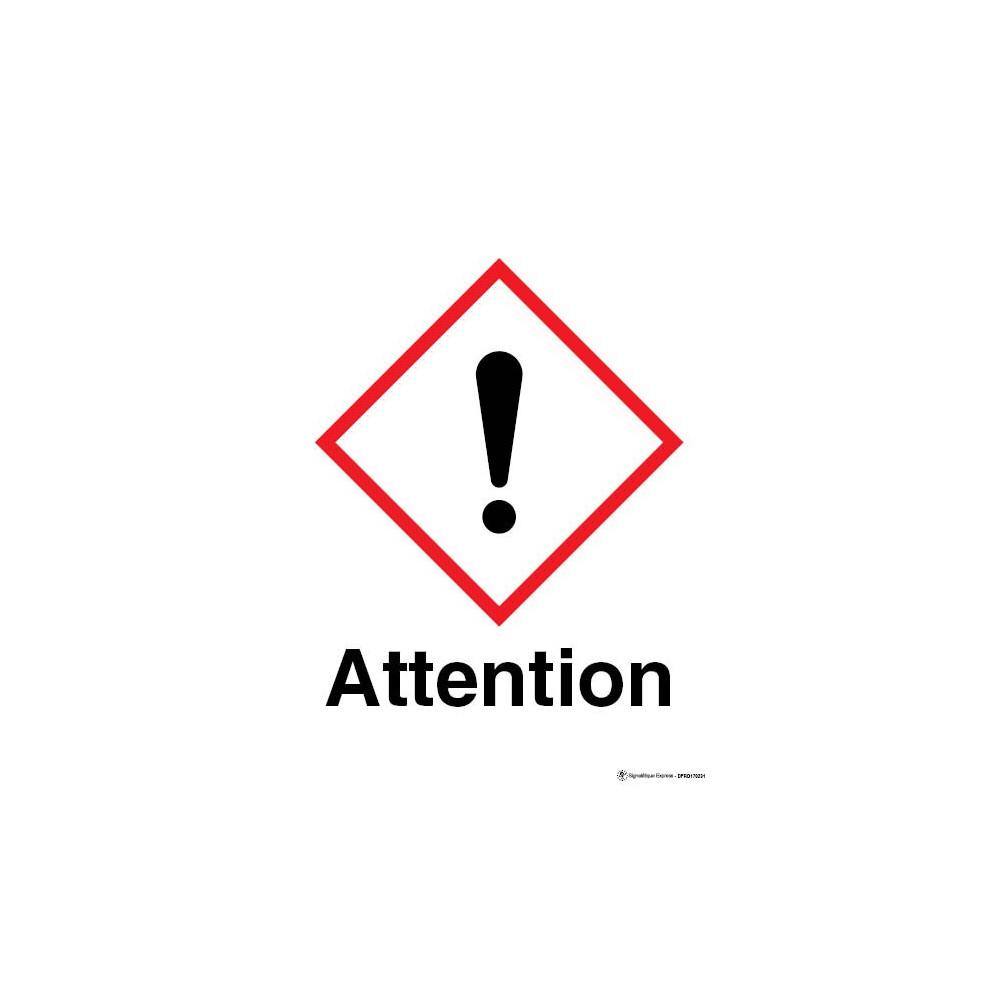 Panneau rectangulaire visuel Attention Matières très toxiques