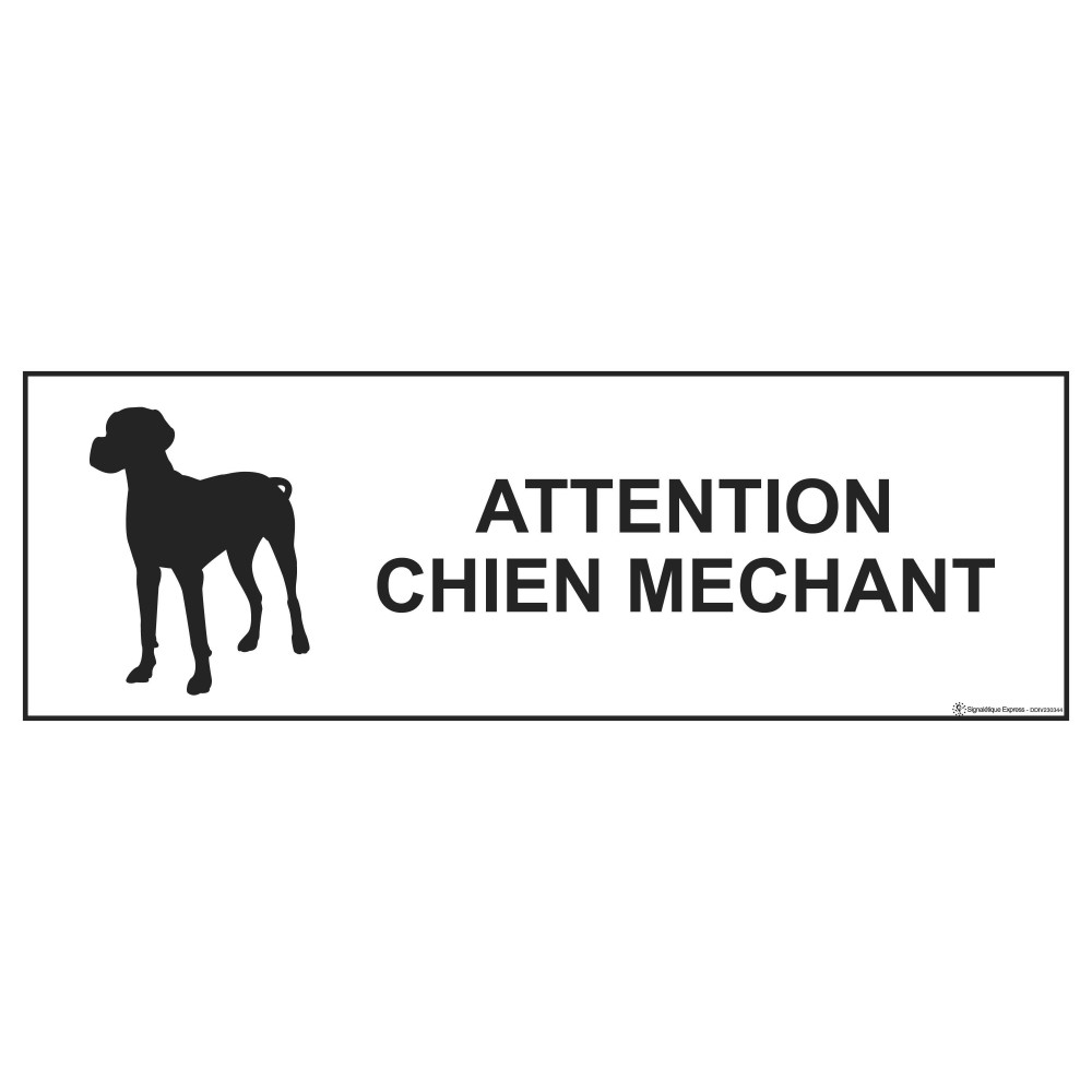 panneau attention chien mechant signaletique express
