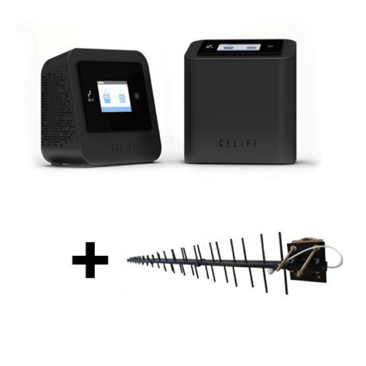 Image of Cel-Fi PRO Repeater for Optus 3G/4G with Blackhawk LPDA Antenna