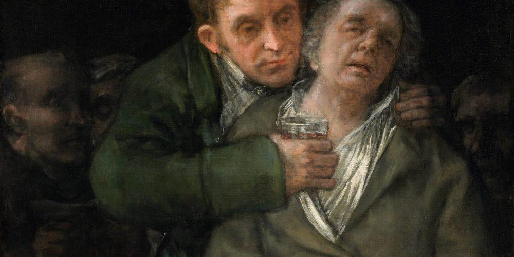 Francisco Jose de Goya y Lucientes; Self-Portrait with Dr. Arrieta; 1820