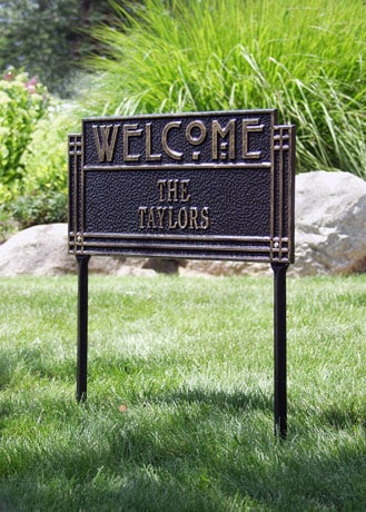 lawn sign personalized arts