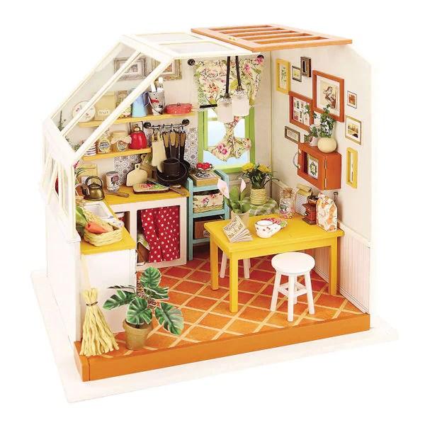 kitchen kits wood table diy miniature kit signals hy7716