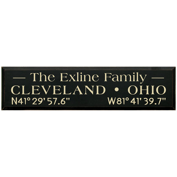 personalized family name coordinates