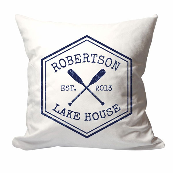 personalized lake house family